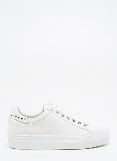 F By Fabrika Kadın Siyah Sneakers CLAUDE Beyaz